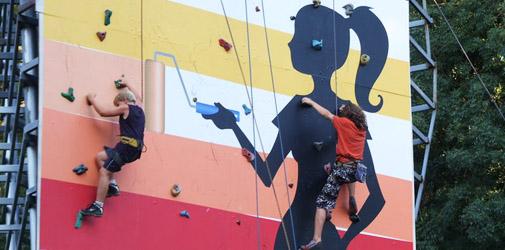 Kamp u sportskom penjanjju  na veštačkoj steni u Vrnjačkoj Banji